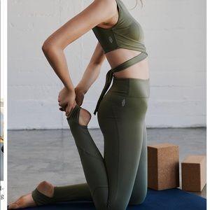 Free People Aerial crop top and stirrup leggings